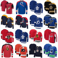 neue trikothüte großhandel-Hoodies New York Rangers Inselbewohner Los Angeles Könige Minnesota Wild Kein Hut Pullover Montreal Canadiens New Jersey Teufel Hockey Trikots
