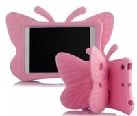schmetterling steht großhandel-3D Schmetterling Kinder Fall für Apple iPad 2 3 4 9.7 Zoll EVA Shock Proof Stand Cover mit Griff Kinderfreundlich LLFA