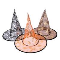 ingrosso cappelli bella ragazza-1 PZ Lovely Witch Hats Halloween Bella Stampata guidata Multi colori Bella Garza Cappello Strega Beauty Girl Gift (Colore Ramdon)