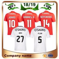 ab0e11cae9f7 18 19 Benfica 10 Jonas Soccer Jersey 18 19 Home Red SEFEROVIC GABRIEL  KALAICA SALVIO Soccer shirt Away ZIVKOVIC ELISEU Football uniforms