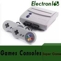 oyun konsolu 16 bit toptan satış-16 Bit Süper Mini SFC Oyun Konsolu Eğlence Sistemi 2 Kontrolörleri ile SNES 64 Klasik Oyunlar 16 adet