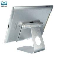 универсальная подставка оптовых-YUNAI универсальный алюминиевый телефон Tablet PC держатель стенд для iPad Mini Desktop регулируемая подставка держатель для iPhone Samsung