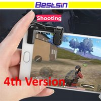 Wholesale Touch Generations - Bestsin MST-G4 4th Generation Mini Mobile Trigger Game Joystick Shooting Game Physical Touch Game Controller Free DHL