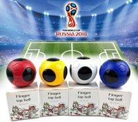 erwachsene hersteller spielzeug großhandel-2018 Weltmeisterschaft Fußball Finger Top Ball Kinder Spielzeug Erwachsene kreative Geschenk Hersteller Großhandel Zappeln Spinner Fingerspielzeug