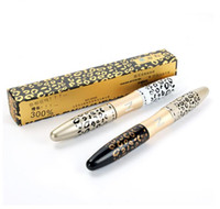 faser wimperntusche leopard großhandel-Hot 3D Faser Leopard Lash Extension Mascara Lange Curling Wimpern Kosmetik Wasserdichte Locke Schwarz Mascara Make-Up