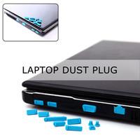 configuração do plug de pó venda por atacado-Marsnaska 13 Pçs / set Silicone Anti Poeira Plugue Cobertura Stopper Laptop dust plug laptop à prova de poeira dust plug Acessórios de Computador