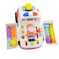Wholesale educational toys for toddlers - 1ps Musical Ambulance Educational Kids Baby & toddler Electronic Classic Toys Hobbies Kids Medical Themed Toys for Children