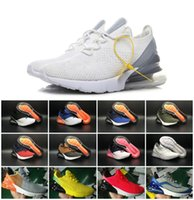 Wholesale medium time - 2018 Vapormax 270 AIR Cushion Half Palm Knitted Face Three Times Black Running Shoes Outdoor RUN Sneakers flair phlyknit Triple Mens shoes