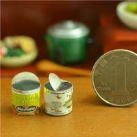 Wholesale rement miniature - G08-X044 children gift Toy 1:12 Dollhouse mini Furniture Miniature rement Empty cans 2pcs set