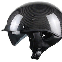 Casco moto Carbon-Fiber Ultra-Light Carbon lucido - X-Large mate nero casco  mezza faccia M L XL XXL bb4a463dbfe3