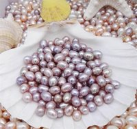 Wholesale pink freshwater pearls loose beads resale online - High quality MM Oval Pearls seed beads colors white Pink purple Loose Freshwater pearls for jewelry making supplies Cheap KKA1744