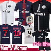 287b3068a2 2018 novo Paris Saint Germain PSG camisa de futebol 19 18 7 Mbappe 6  Verratti 9 Cavani 32 DANI ALVES 10 11 DI MARIA 2 T SILVA Camisas de futebol