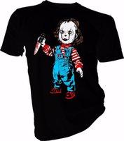 chemises junior bon marché achat en gros de-T-shirt graphique à manches courtes à manches courtes O-Neck Meilleur ami Mens It Junior Chemises