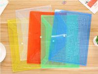 beutelanzeige großhandel-Großhandel Transparent Kunststoff Werbung Büro Schule Dokumententasche Dateiordner Für A4 Informationen Tasche PP Umschlag
