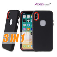 Wholesale Iphone Cellphone Cases - Latest designer phone cases 3 in 1 Hybrid Defender iphone case For iPhone X 8 7 6 6S Plus Shockproof cellphone case