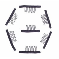Wholesale clip hair china - Made In China Quality Hair Extension Clip 10 Pcs One Bag Wig Combs Convenient For Your Wig Caps 2Cm*3Cm Snap Comb Clips