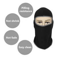 Wholesale balaclava fleece mask online - Motorcycle Face Mask Soft Breathable Warm Mask Winter Thermal Fleece Balaclava Hood for Moto Bicycle Cycling Full Face and Neck