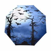 guarda-chuva chinês preto venda por atacado-Chuva de sol Guarda-chuva 3 Dobrável Mulheres Guarda-chuva de Morcego Criativo Para O Presente Sombrillas Para El Sol Chinês Automático Guarda-chuva Preto 2017