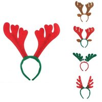 Wholesale halloween cloth children for sale - Group buy Xmas Deer Antlers Hairband Children Bell Cloth Non Woven Hair Headband Christmas Gift Party Decoration OOA5392