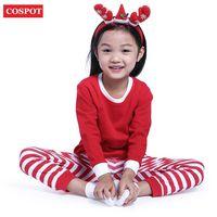 Wholesale Kids Winter Pjs - Cospot Baby Sleepwear Boys Girls Christmas Pajamas Kids Long Sleeve Xmas Pjs Cotton Pajamas Children Striped Night Wear 2017 New 30d