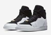 Wholesale running jumping - 2018 High Men OG 1 EQUALITY Black White-Metallic Gold Basketball Shoes 1S JUMP MAN Sneakers Trainers Mens Sport Shoes
