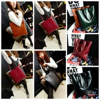 Wholesale leather hobo shopping bags online - PU Leather Tote Shoulder Bag Colors Women Hobo Shopping Satchel Large Big Cross Handbag Outdoor Bags OOA5651