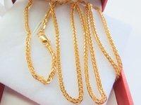 ingrosso collana della catena dell'oro di 18k-20inch Best Gift Pure 18k Collana in oro giallo per donne con catena a coda di volpe 4-4,5g