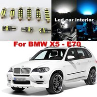 Wholesale bmw x5 kit - WLJH 20x Pure White Canbus No Error Car Dome Vanity Puddle Footwell Trunk LED Interior light Kit for BMW X5 E70 2007 -2013