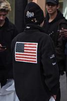 ingrosso ricami velours-caldo 2018 nuova bandiera ricamo giacca uomo donna cappotti moda capispalla abbigliamento di alta qualità kanyes felpe in pile ovest