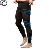 Wholesale male thighs - PRAYGER Men male 100pcs Corrective Thigh Underwear Waist Touch Butt Lift Shaper Panties Long Legs Slimming Thigh Warm Body Pant
