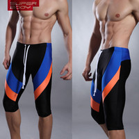Wholesale Cycle Briefs - Men 'S Swimming Trunks Seven Men Color Matching Swimming Trunks Fitness Swimwear Cycling Together With Long Swim Shorts
