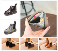 Wholesale black boots for toddler girls for sale - Group buy Kids Autumn Baby Boys Oxford Shoes For Children Dress Boots Girls Fashion Martin Boots Toddler PU Ieather Boots Black Brown Gray