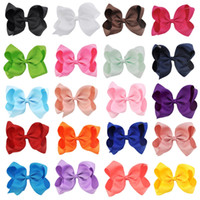 Wholesale clip hairbow for sale - 20 Inch Girls Hairbow children hair clips kids Newborn hairpins Girls Hair Bows Clips accessories