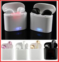 Wholesale Earphone Packing Box - I7S TWS Bluetooth Headphones with Charger Box Twins Wireless Earphones Earbuds for iPhone X IOS iPhone Android Samsung with retial packing