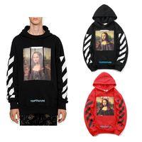 Wholesale hot lisa - Good quality New Hot Fashion Sale Brand Mona Lisa Print Cotton men women hoodie 2XL white OC18123