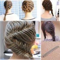 ingrosso attrezzo di fustellatura del panino-1PC Donna Lady Fashion Hair Styling Clip Stick Bun Maker Braid Strumento Accessori per capelli Nuovo