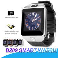 kayıp telefonlar toptan satış-DZ09 Akıllı İzle Bileklik Saatler Android SmartWatch SIM Akıllı Cep Telefonu Pedometre Anti-kayıp Kamera Akıllı İzle Perakende Kutusu Ile