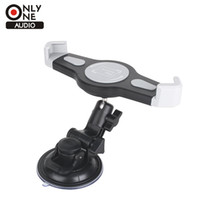 tabulador de coche al por mayor-SÓLO UN AUDIO Tablet Car Holder tablet desktop Windshield Car mount cuna Para iPad Samsung Tab Phone Stand 7/8/9/10 inch
