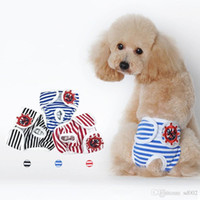 Wholesale teddy diapers for sale - Group buy Dog Stripe Physiological Pants Dogs Safety Trousers Polite Fashion Teddy Clothing Pets Supply Ropa Rara Perros hp gg