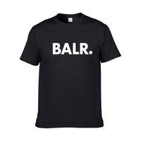 модная одежда летняя молодежь оптовых-2018 новый летний бренд BALR одежда О-образным вырезом молодежи мужская футболка печати хип-хоп футболка 100% хлопок мода мужчины футболки