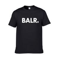 ingrosso camicie di marca balr-2018 nuova estate marchio BALR abbigliamento O-Collo giovani T-shirt da uomo stampa Hip Hop t-shirt 100% cotone moda uomo T-shirt