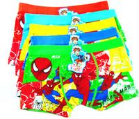 дети мальчик боксер оптовых-Spiderman Big Boy Boxer Нижнее белье регенерированного целлюлозного волокна, Детское белье Мода Cartoon Character Для V 001