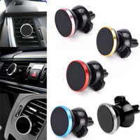 Wholesale Wholesale Cellphone Chargers - Universal Car Holder Mini magnetic Air Vent Mount Holder for mobile phone 360 degree rotatable cellphone mount car holder BBA129