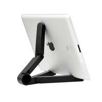 регулируемая опорная таблетка оптовых-Складная подставка для планшета регулируемый универсальный 7 ~ 10-дюймовый держатель для планшета складной портативный карманный держатель для iPad HY01