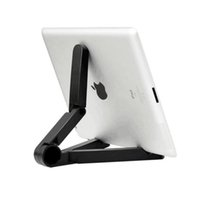 регулируемая опорная таблетка оптовых-Foldable Tablet Stand Adjustable Universal 7~10 Inch Tablet Holder Folding Portable Pocket Support Holder for iPad HY01