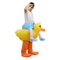 mascote de galinha adultos venda por atacado-Frango inflável Trajes de Halloween Passeio em INFLÁVEL GALINHA TRAJE ADULTO trajes de Halloween para mulheres mascote