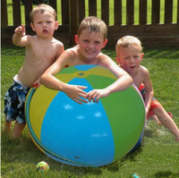 Wholesale Big Play Balls - IN STOCK Inflatable Beach Water Ball Outdoor Sprinkler Summer Inflatable Water Spray Balloon Outdoors Play In The Water Beach Ball free ship