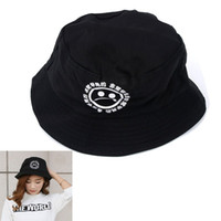 sombreros del cubo del vintage al por mayor-Boonie Flat Fishman Hat Summer KYC Vintage Negro Cubo Sombrero Triste Niños Hombres Mujeres Hip Hop Gorra de Pesca Sprots Chapeau Panamá Sunhat