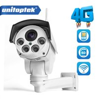 wi fi ptz caméras achat en gros de-Caméra IP 1080P Wi-FI 3G 4G Carte SIM Wifi HD Balle PTZ Caméra Extérieure Sans Fil IR 50M Zoom Zoom Objectif CCTV