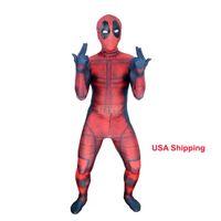 deadpool costume оптовых-Дети 3D Дэдпул 3D X-Men Дэдпул Хэллоуин косплей супергерой лайкра спандекс Зентаи костюмы Дэдпул костюм (унисекс)